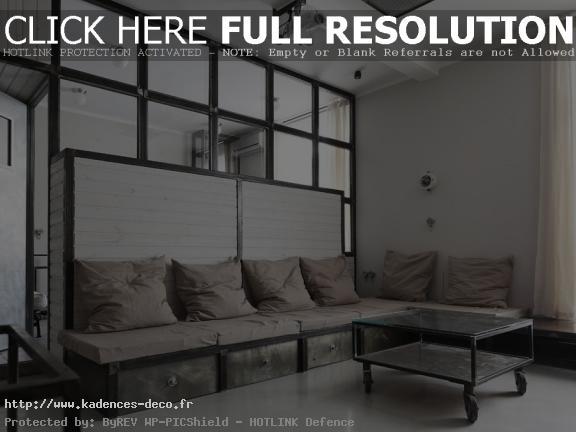 modèle déco appartement style industriel