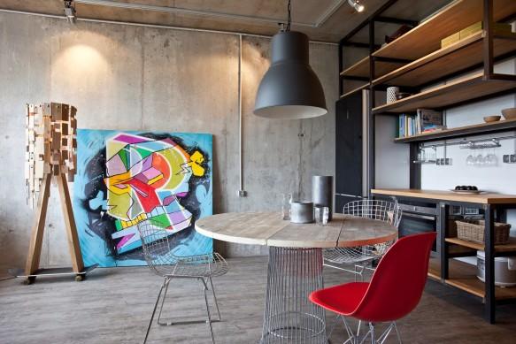 photo déco appartement style industriel