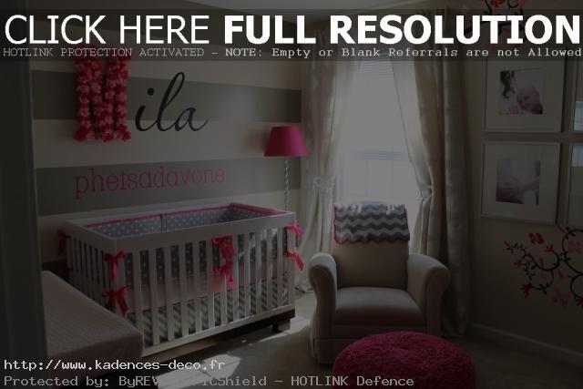 aménagement déco chambre de bebe fille