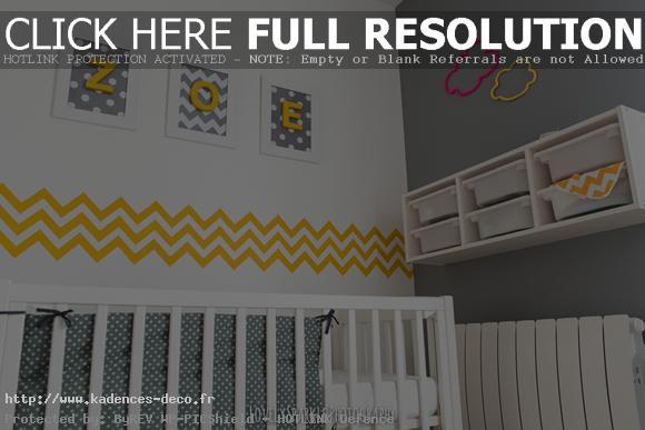 Déco chambre garcon jaune