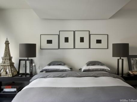 Déco chambre gris et blanc