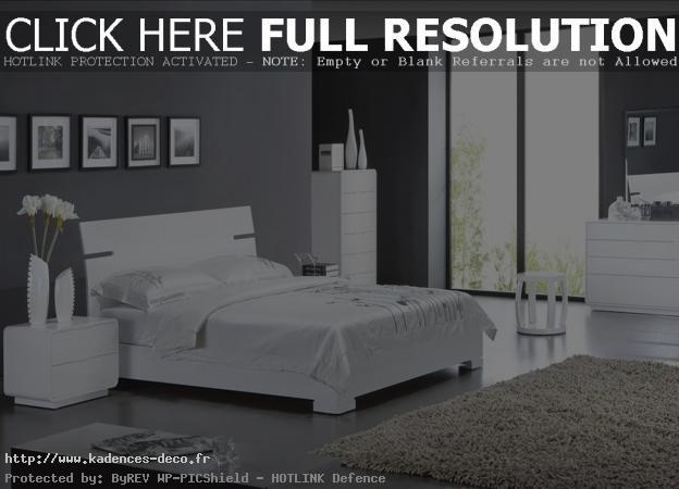 exemple déco chambre gris et blanc