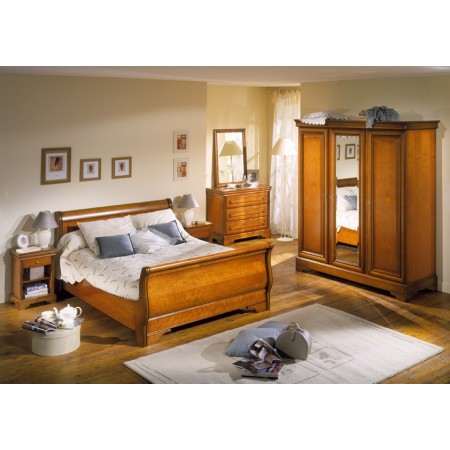 modèle déco chambre meuble merisier