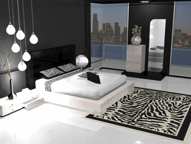 Déco chambre noir et argent
