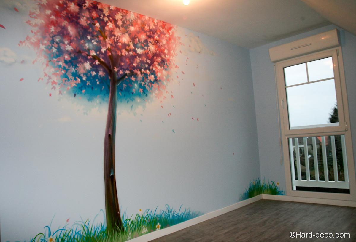 agencement déco chambre peinture murale
