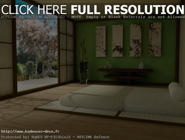 idée déco chambre zen japonais