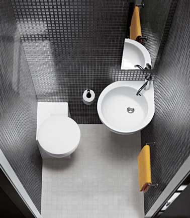 idée déco coin wc