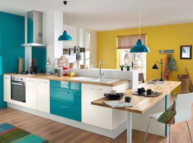 aménagement déco cuisine bleue