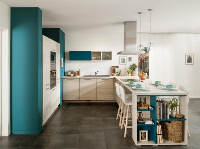exemple déco cuisine bleue