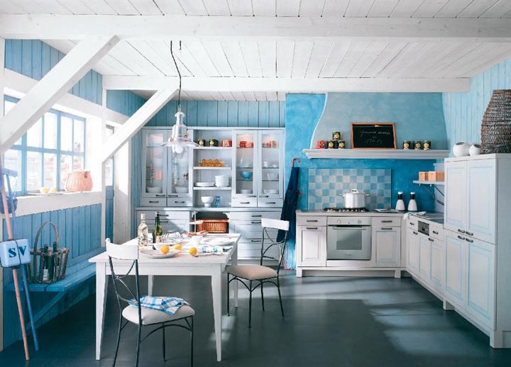 univers déco cuisine bleue