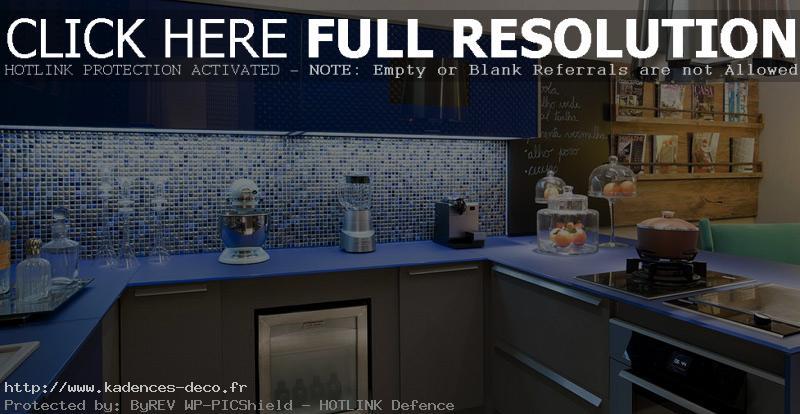 modèle déco cuisine bleue