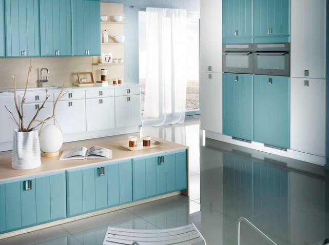 photo déco cuisine bleue