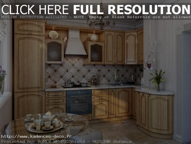 modèle déco cuisine bois