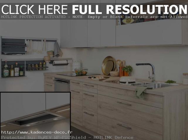 organisation déco cuisine bois clair