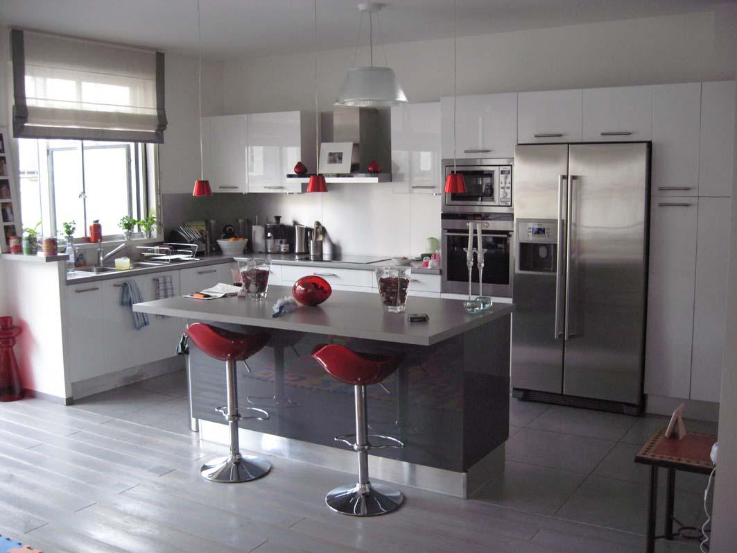exemple déco cuisine en gris