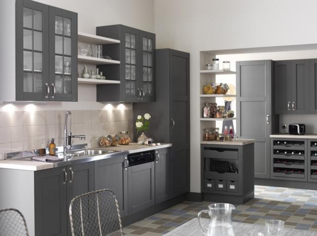 agencement déco cuisine en gris