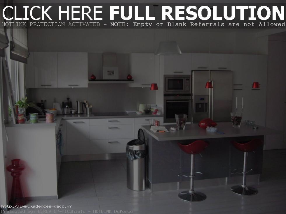 organisation déco cuisine en gris