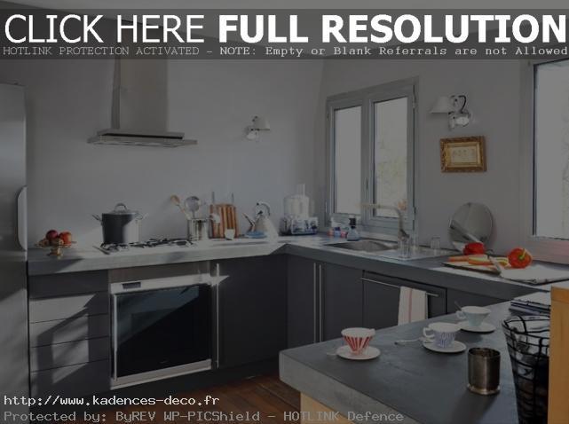 aménagement déco cuisine gris clair