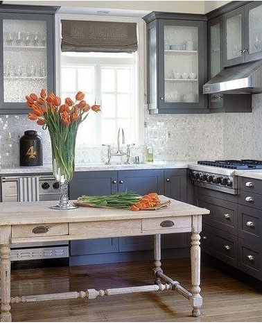 organisation déco cuisine gris clair