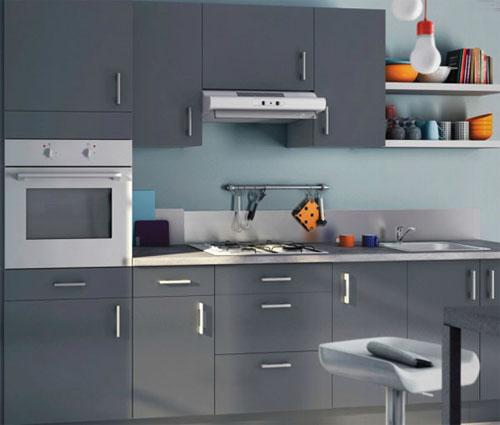 photo déco cuisine gris clair