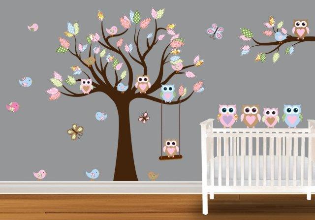aménagement déco hibou chambre bebe