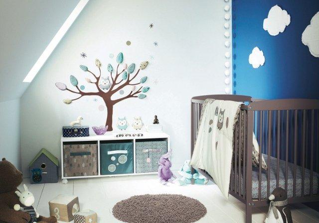 modèle déco hibou chambre bebe