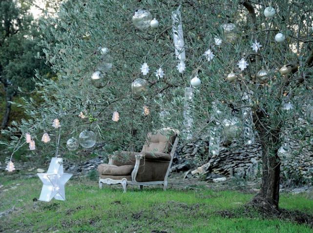 exemple déco jardin arbre