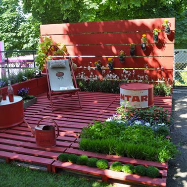 Déco jardin avec palette