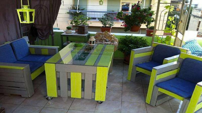 organisation déco jardin avec palette