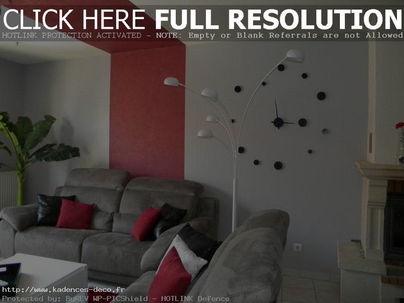 Déco maison gris et rouge