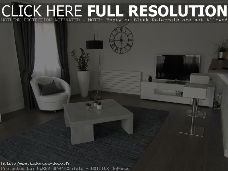 Déco maison noir blanc gris