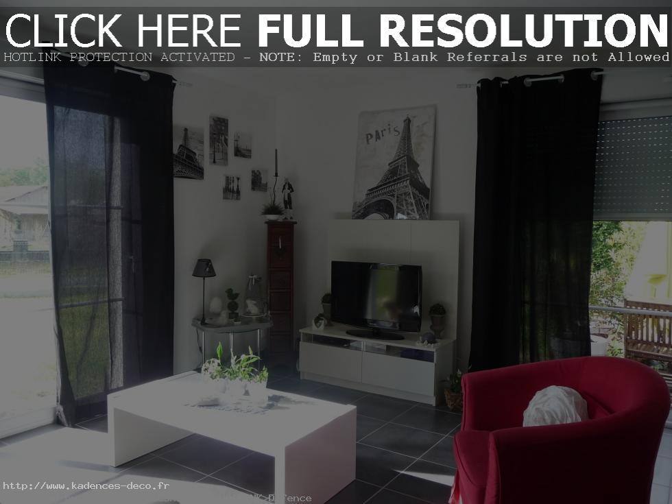 idée déco maison noir blanc gris