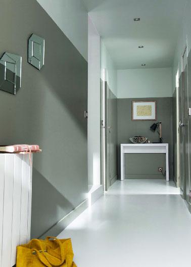 modèle déco maison peinture couloir