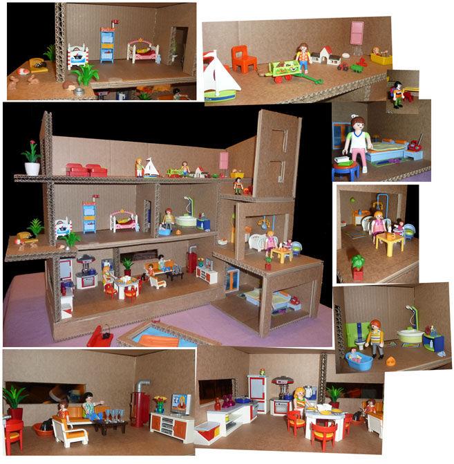 idée déco maison playmobil