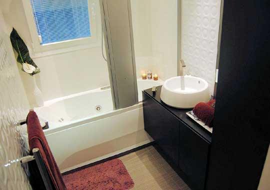photo déco mini salle de bain