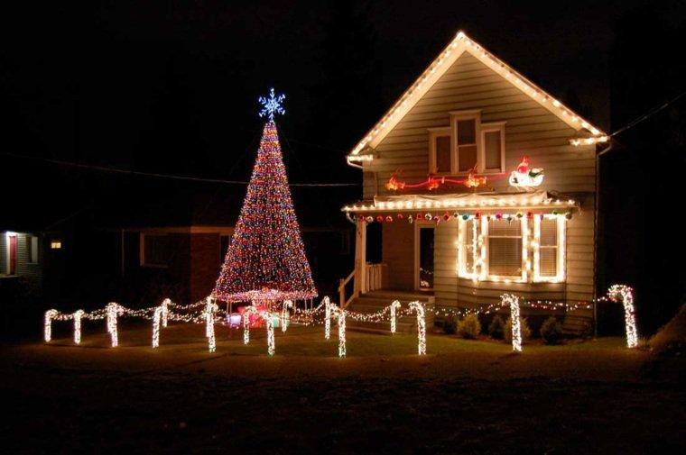 exemple déco noel maison lumineuse