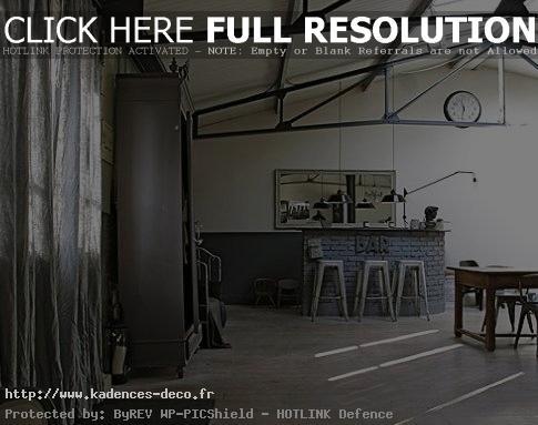exemple déco peinture loft