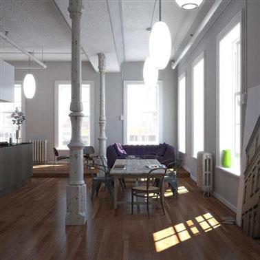 modèle déco peinture loft