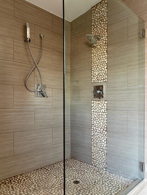 organisation déco salle de bain avec galets
