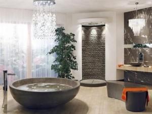 aménagement déco salle de bain nature zen