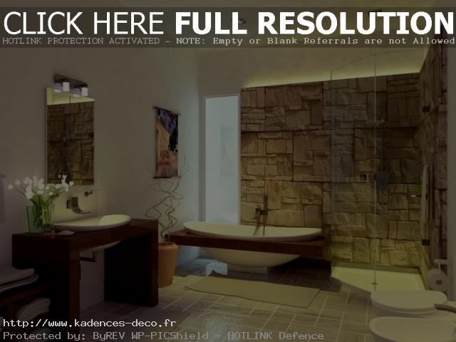 exemple déco salle de bain nature zen