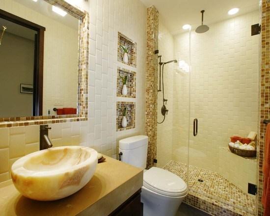 agencement déco salle de bain nature zen