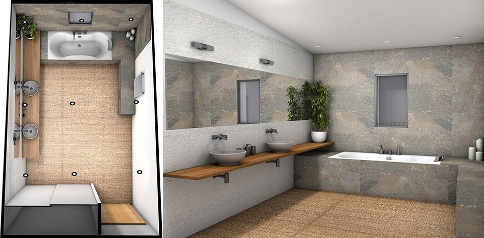 organisation déco salle de bain nature zen