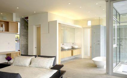 Déco salle de bain ouverte sur chambre