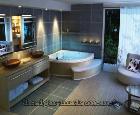 modèle déco salle de bain spa