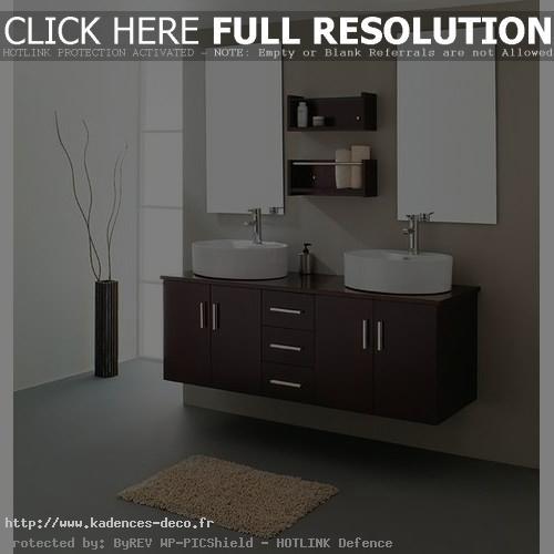 aménagement déco salle de bain wenge