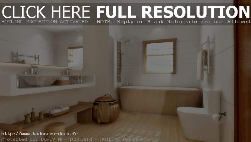 aménagement déco salle de bain zen et nature