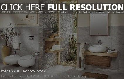 idée déco salle de bain zen et nature