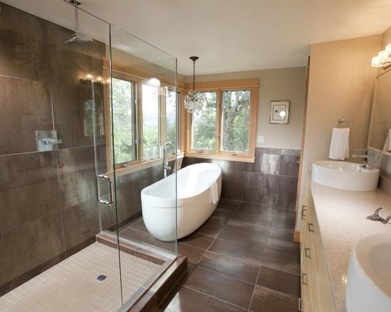 modèle déco salle de bain zen et nature