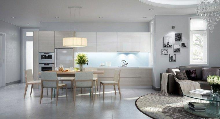 Déco salon cuisine moderne